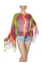 Wholesale I34B Multi Wear Aurora Poncho BL/MT