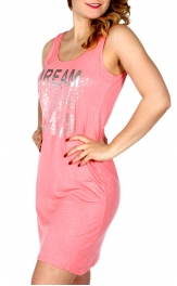 Wholesale K56B DREAM BIG sleeveless nightshirt Coral