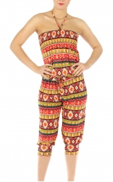 wholesale N09 Geometric halter jumpsuit RD