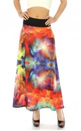 Wholesale M31 Wide waistband maxi skirt Red fashionunic