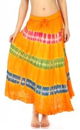 Wholesale N09 Tie dye long skirt Brown