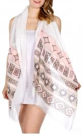 Wholesale I16D Bohemian stripes print scarf PI