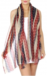 Wholesale H13B Red white & blue stars scarf FL