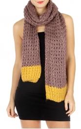 wholesale Q16 2 toned sparkly knit scarf BK fashionunic