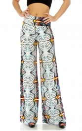 wholesale B28 Wide waistband aztec palazzo pants