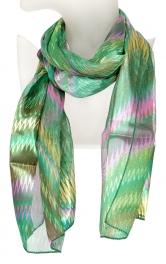 Wholesale O41B Zigzag print satin scarf