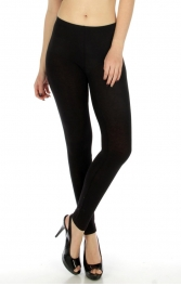 wholesale C23 Solid cotton thin leggings Black S