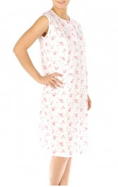 wholesale M37 Cotton blend floral nightgown Pink XL