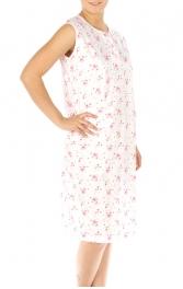 wholesale M37 Cotton blend floral nightgown Pink XL