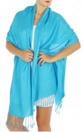 wholesale F09 Solid Pashmina Shawl Turquoise fashionunic