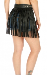Wholesale P15E Short Fringe Hula Belt BLK