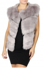 Wholesale T05B Short faux fur vest Pink