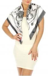 wholesale H02 Clock silk blend square scarf Grey