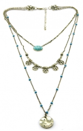 Wholesale M12C Three tier beaded necklace GB fashionunic