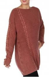Wholesale Q20-1C Cotton knit sweater Blue
