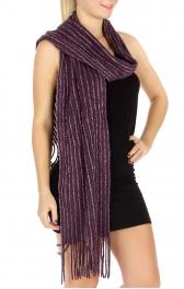 wholesale R54 Corduroy style Knit scarf PP fashionunic