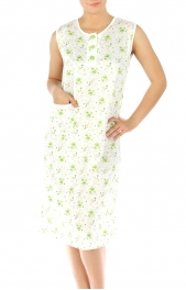 wholesale M37 Cotton blend floral nightgown Green L