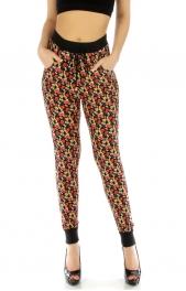 Wholesale E36 Floral jogger pants RD/YL fashionunic