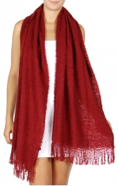 Wholesale R54D Oversized solid woven scarf