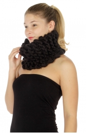 Wholesale R84 Hand stitched neck warmer Black