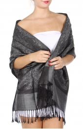 wholesale D35 Whole Jacquard Pashmina 75 L Slate Grey