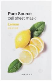 Wholesale MISSHA Pure Source Cell Sheet Mask [Lemon] 21g (5 pack)
