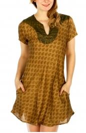 Wholesale G42D Sari Style Dress L/XL Turquoise