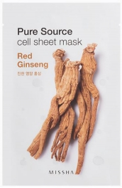 Wholesale MISSHA Pure Source Cell Sheet Mask [Red Ginseng] 21g (5 pack)