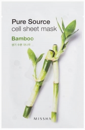 Wholesale MISSHA Pure Source Cell Sheet Mask [Bamboo] 21g (5 pack)
