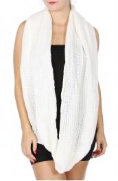 wholesale S86A Waffle knit infinity scarf Dozen