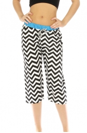 wholesale G36 Capri cotton pajama chevron fashionunic