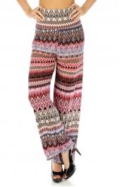 Wholesale M11 Elastic geometric palazzo pants Pink