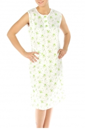 wholesale M37 Cotton blend floral nightgown Green XL