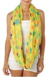 wholesale J11 Multi star infinity scarf Yellow