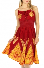wholesale G36 Batik midi kali dress Burgundy fashionunic