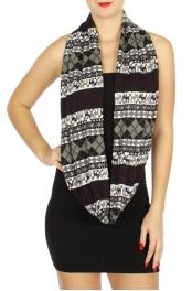 Wholesale U33A Nordic print infinity scarves Dozen