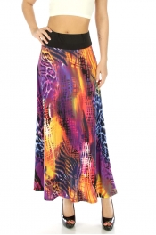Wholesale M31 Wide waistband skirt Purple fashionunic