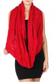 wholesale BX30 Textured solid infinity scarf Dozen