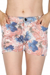 wholesale A14 Cotton blend floral short pants