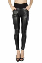 Wholesale C16 Quilted look liquid front pants