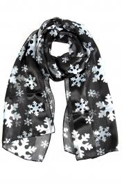 Wholesale WA00 Satin stripe scarf SNOWFLAKE