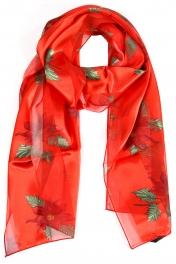 Wholesale WA00 Satin stripe scarf POINSETTIA CORSAGE