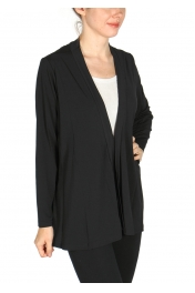 Wholesale H18A Draped solid cardigan PLUS SIZE