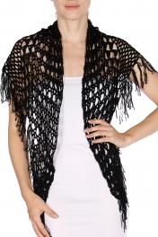 wholesale L10 04 Cotton crochet Shawl 596 BK fashionunic