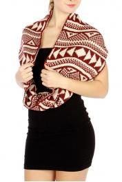 wholesale O47 Tribal block infinity scarf WN fashionunic