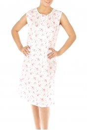 wholesale M37 Cotton blend floral nightgown Pink L