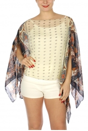 Wholesale I33D Bohemian two-way poncho NV/MT