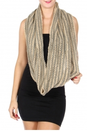 wholesale S35A Two tone infinity scarf Dozen