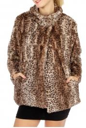 wholesale P03 Fake Fur Jacket Leopard BR fashionunic