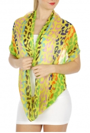 wholesale H20 Multi color Infinity Scarf Yellow